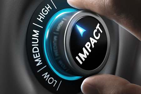"Dial pointing ""IMPACT"" to ""HIGH"""